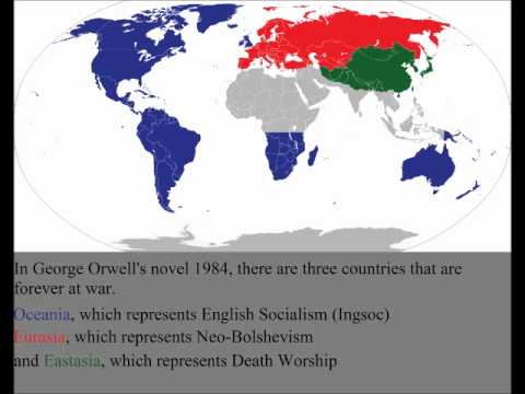 the view of the world in 1984 by george orwell George orwell essay examples nineteen eighty four nineteen eighty four is george orwell's nightmare vision of the future written in 1948, at the end of world war ii, orwell simply switched numbers for his future view.