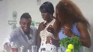 Serena and Venus Williams Taste of tennis NYC 2013