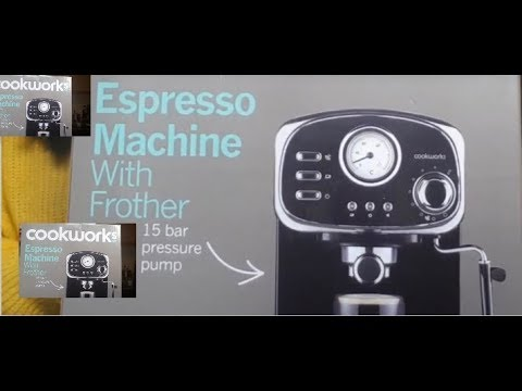 Cookworks Espresso Coffee Machine With Frother Youtube