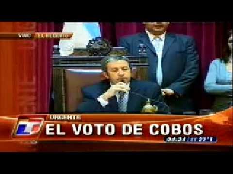 """Voto """"No Positivo"""" del Vice Presidente Julio Cobos"""
