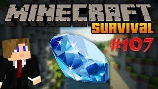 Minecraft Survival - Beautiful like diamonds in the Mine - Deel 107