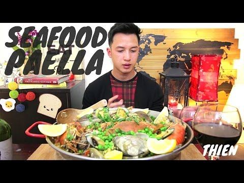 [mukbang/cookbang with THIEN]: Spanish Seafood Paella (Clams, Mussels, Prawns, and Blue Crabs)