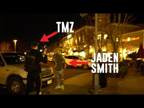 Leaving The Theatre With Jaden Smith & TMZ Was OUTSIDE !!!