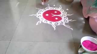 how to make small n easy sanskar bharti rangoli