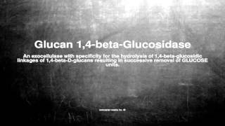 Medical vocabulary: What does Glucan 1,4-beta-Glucosidase mean