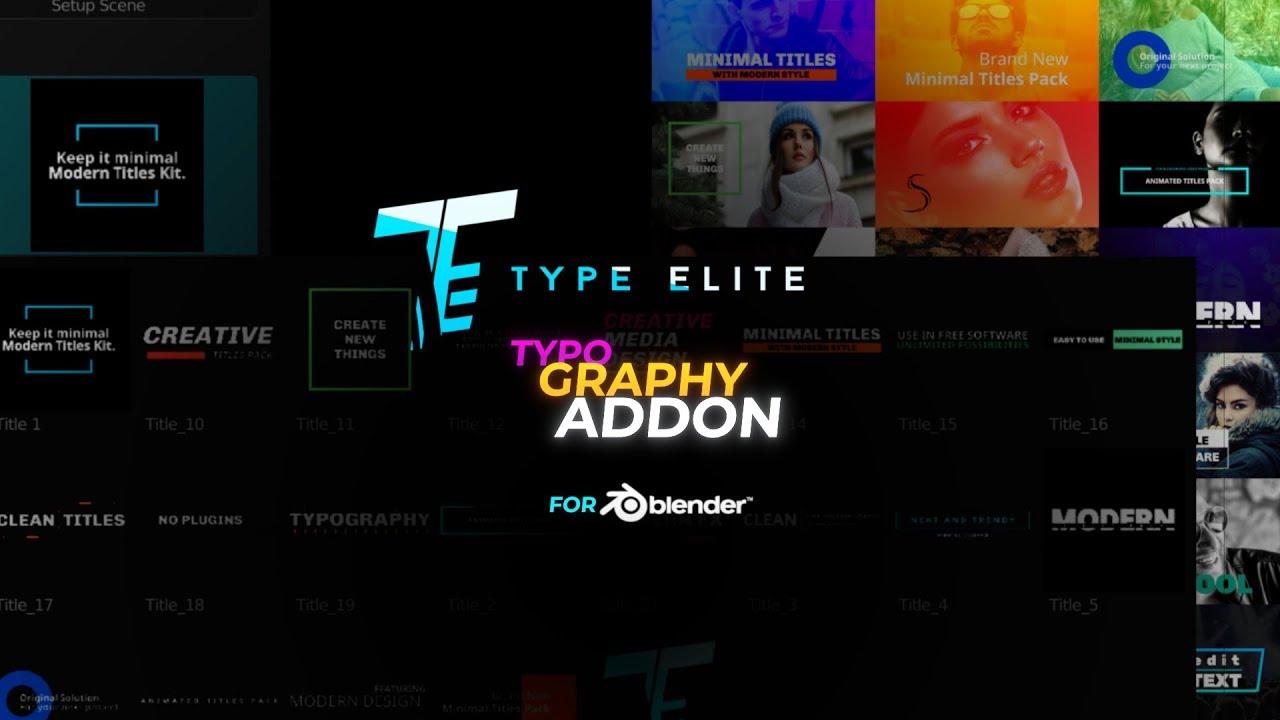 Blender Motion Graphics Typography Addon | Make titles in Blender