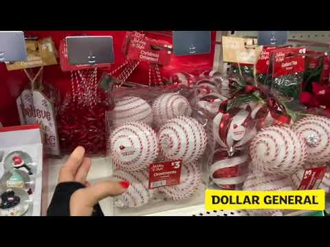 DOLLAR GENERAL CHRISTMAS DECORATIONS ORNAMENTS SHOP WITH ME SHOPPING STORE WALK THROUGH