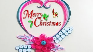 quilling artwork | How to make Beautiful Quilling greeting card for Merry Cristmss