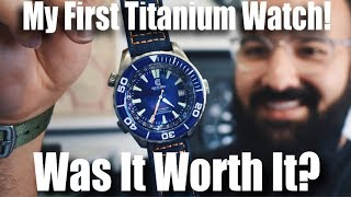 My First Titanium Watch!  Was It Worth It?  (Ocean Crawler Navigator Review)