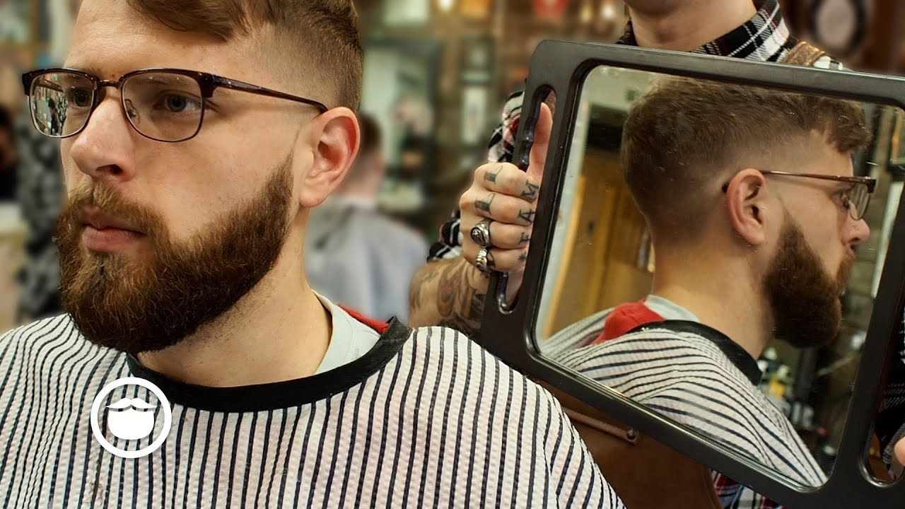 THICK HAIR SKIN FADE Mens Haircut Amp Beard Trim Tutorial