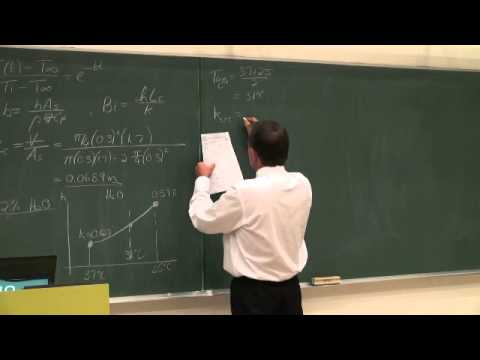 Lecture 08 (2013). 4.1 Lumped system approach, Transient heat transfer