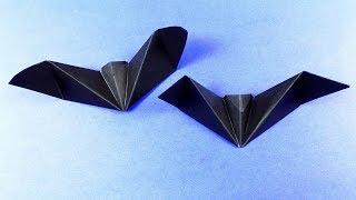 how to make origami bat. Origami Halloween Bat