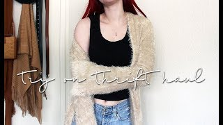 TRY ON THRIFT HAUL | starting to buy fall stuff...