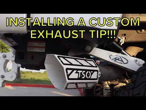 installing a custom tso exhaust tip on my anylevel f350