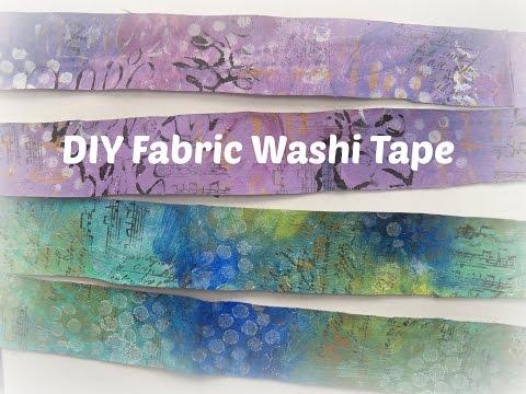 how to make fabric washi tape/ DIY Washi Tape