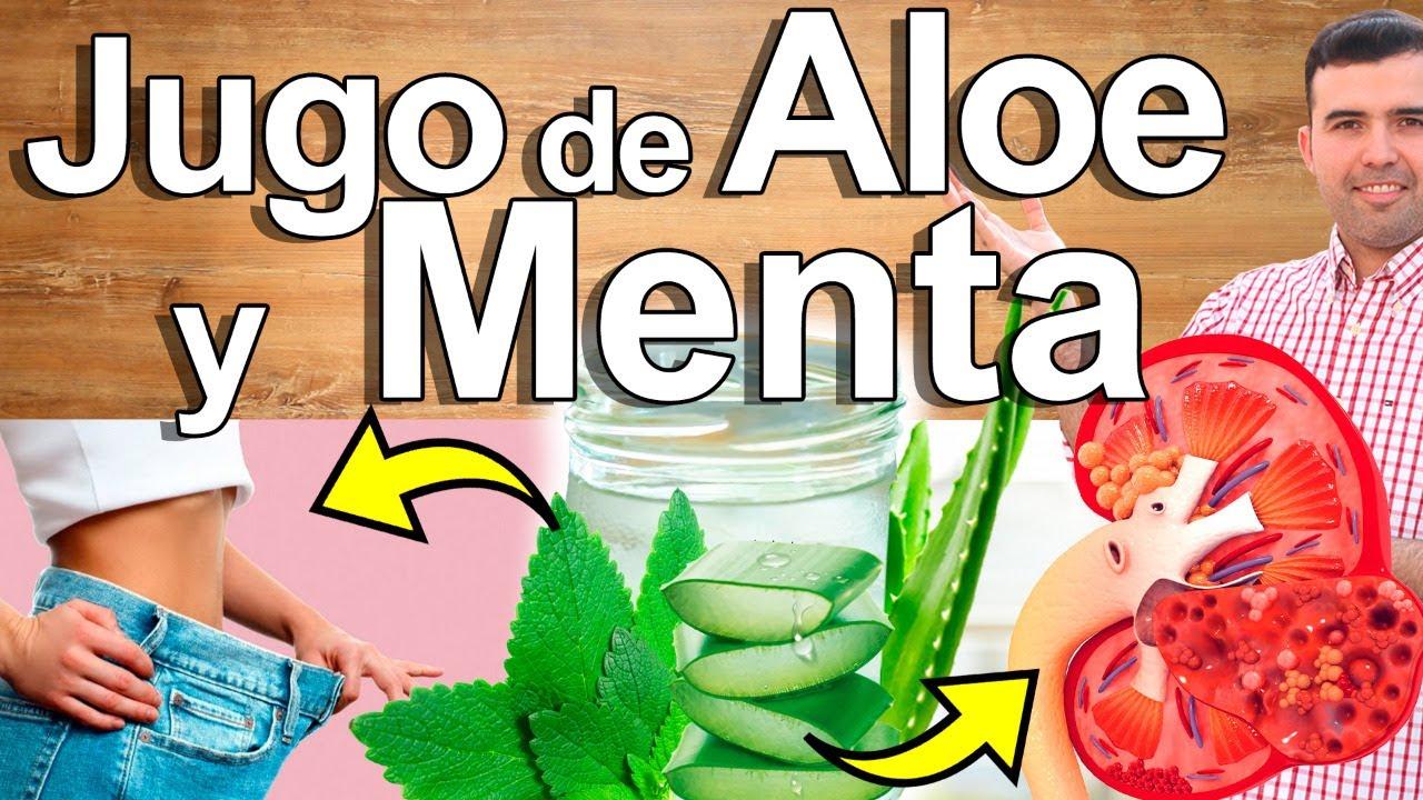 Jugo De Aloe Vera Y Menta - Para Qué Sirve? - Beneficios Para Tu Salud Y Belleza