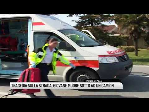 TG VICENZA (25/07/2018) - TRAGEDIA SULLA STRADA: GIOVANE MUORE SOTTO AD UN CAMION