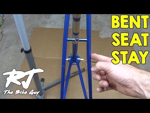 Straightening Bent Seat Stays On A Bike Frame