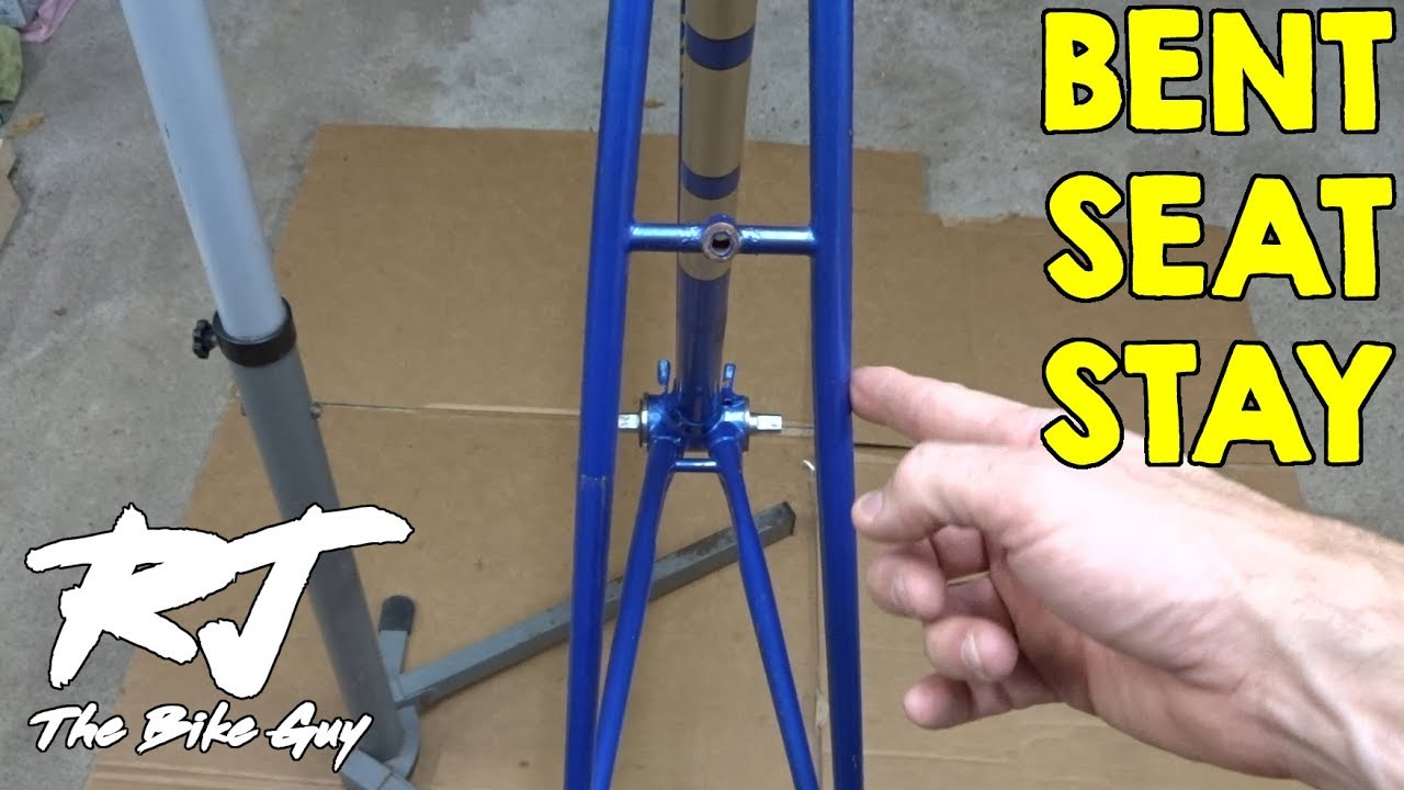 Straightening Bent Seat Stays On A Bike Frame - YouTube