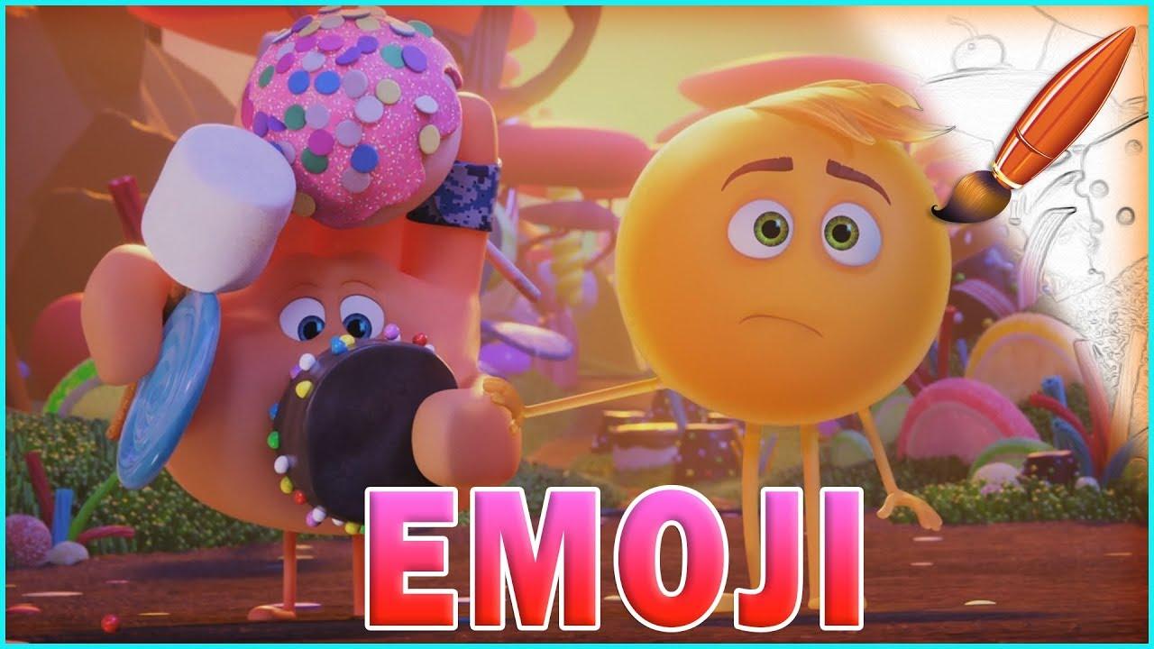 Coloring Emoji Movie Stuck in Candy
