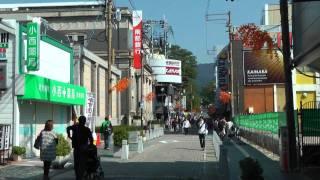 JR奈良駅~三条通り~猿沢池 Sanjo Dori Street in Nara Japan