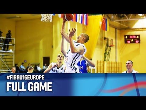 Lithuania v Bosnia and Herzegovina - Full Game - FIBA U16 European Championship 2016