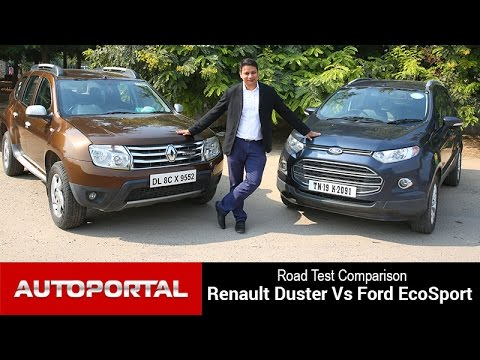 renault duster vs ford ecosport test drive comparison autoportal youtube. Black Bedroom Furniture Sets. Home Design Ideas