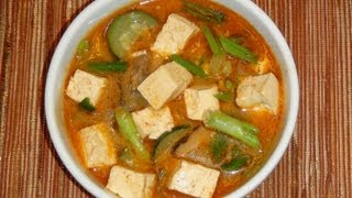 Pinoy Recipe - Cheapest Recipe In The World - Tofu Soybean Soup [korean Tofu Stew]