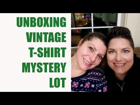 Mystery Vintage T-Shirt Unboxing With Binky!!