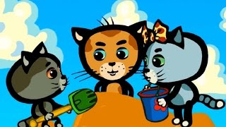 Развивающие песенки для детей и малышей - Дождик, дождик, уходи! - Три котенка (караоке)