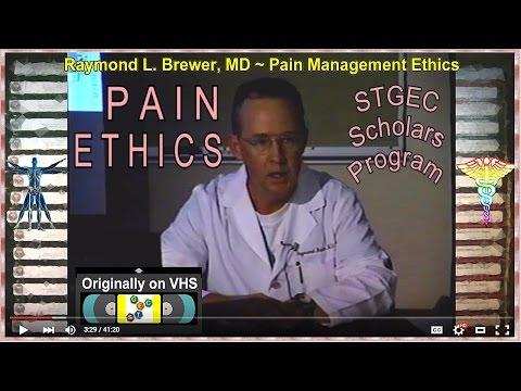 STGEC Scholars: Pain Management Ethics (2000)