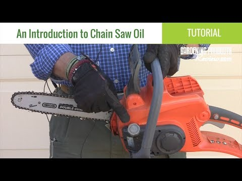 What Is Chainsaw Bar Chain Oil And Why Do I Need It Tutorial Gardening Products Review