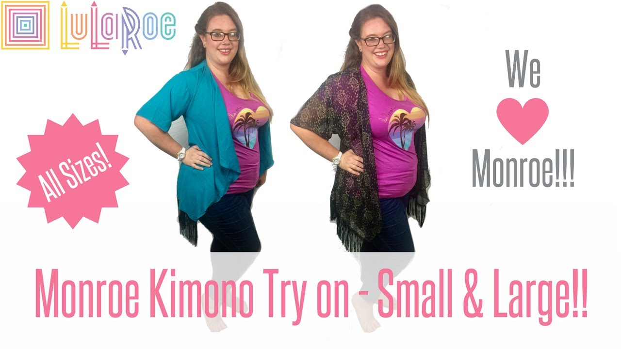 Our LuLaRoe OBSESSION - MONROE KIMONO Fit and Sizing ...