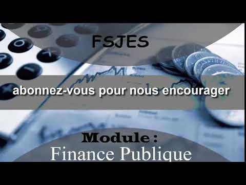 Finances publiques s4 - seance 2 partie 4 (Resume 1)