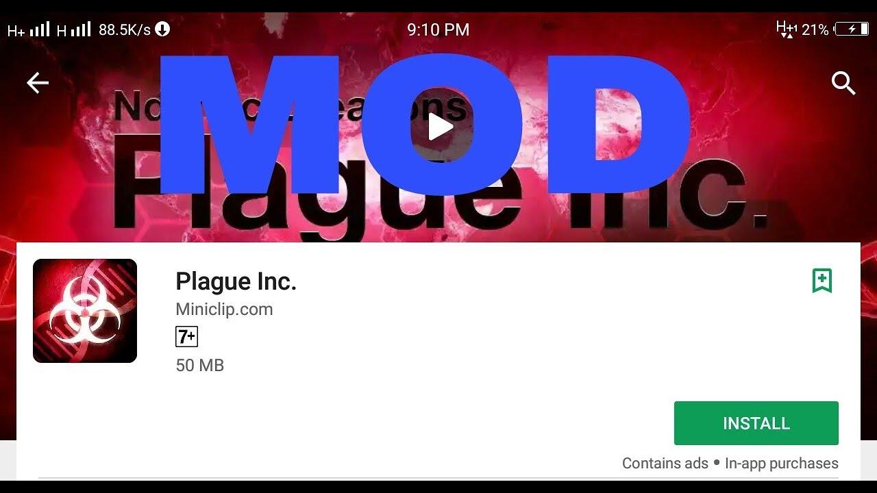plague inc mod apk unlocked and unlimited dna