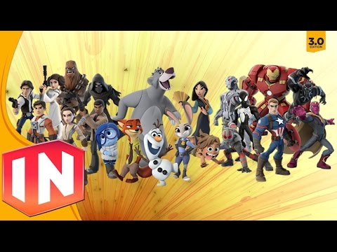 Disney Infinity 3.0 - All Character Previews (Remembering Infinity)
