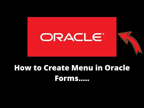 How to Create Menu in Oracle Forms..
