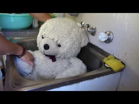 WASHING MY TEDDY !!! SUCH A HARD WORK !!!