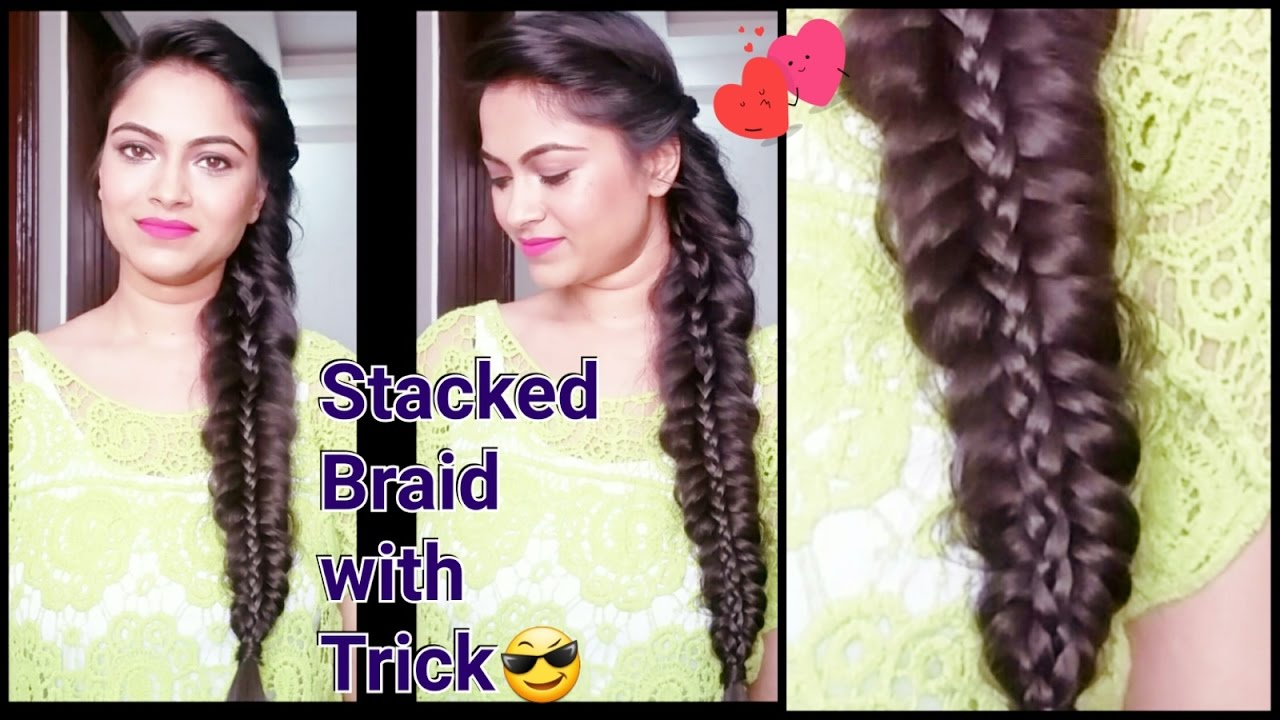 stacked braid//everyday easy hairstyles for medium to long hair