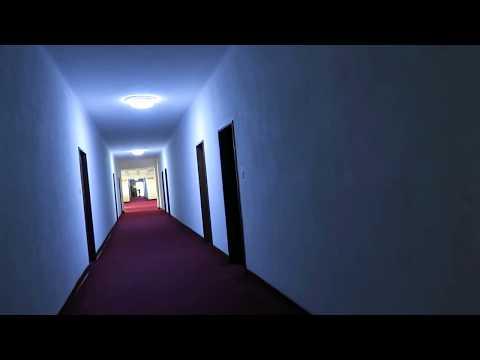 A North Korean girl singing by herself in a dark hotel corridor in Pyongsong