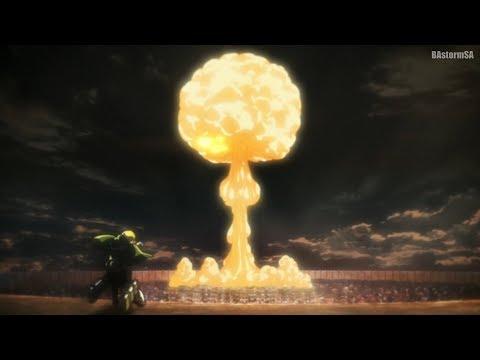 Превращение Бертольда в Колосального Титана, Ядерный Взрыв [Attack on Titan 3 Part 2]
