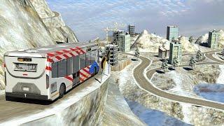 Winter Snow Hill Bus Driving Simulator iOS Gameplay
