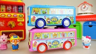 Bus car toys and Pororo baby doll picnic play
