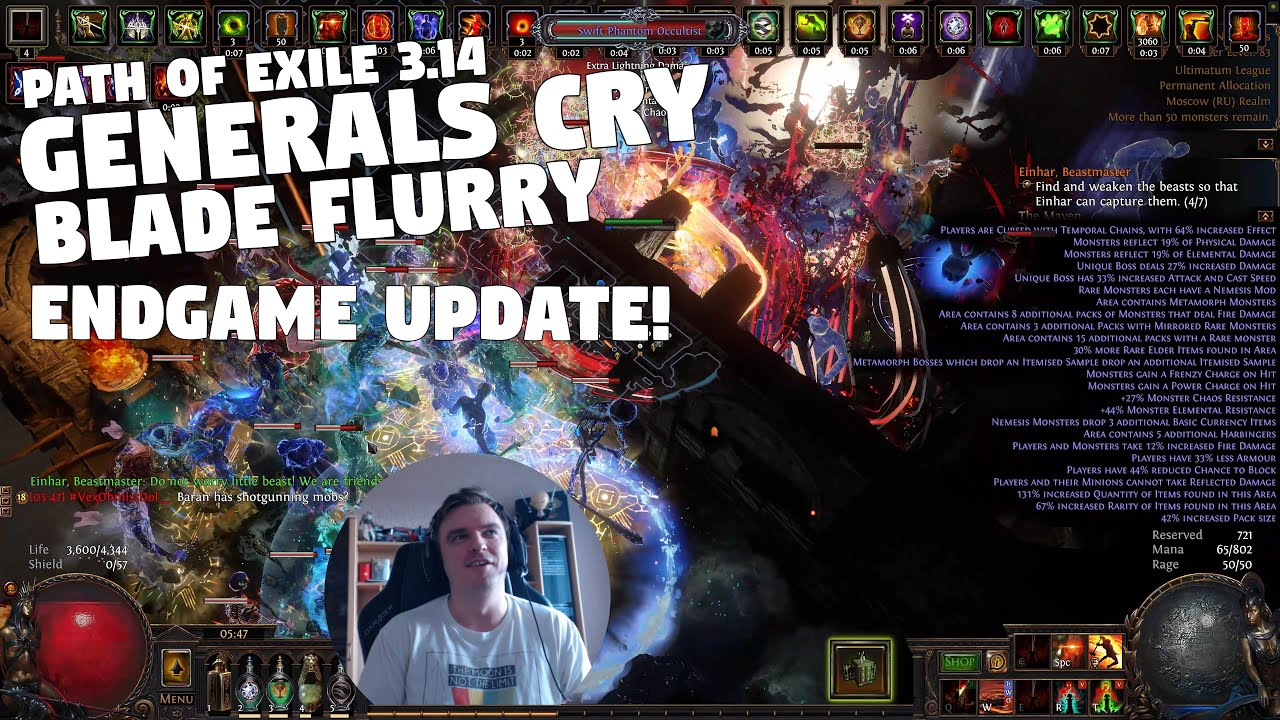 Path of Exile 3.14 - ULTIMATUM - My Generals Cry Blade Flurry ENDGAME UPDATE!