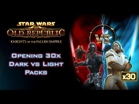 Star Wars: The Old Republic - Opening 30x Dark vs Light Packs