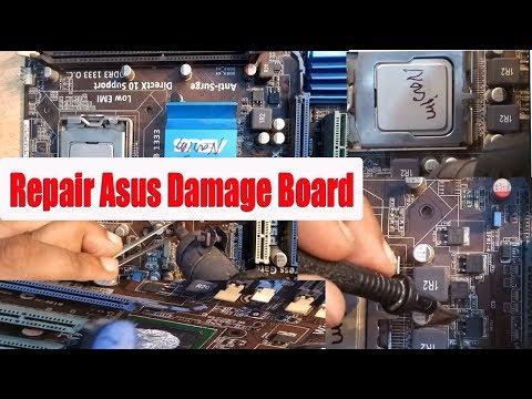 How To Repair Asus P5g41c- M Lx Motherboard No Power   Repair Asus Dead Board  Bangla Tutorial