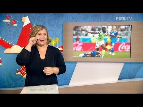 FIFA WC 2018 - NGA vs. ISL – for Deaf and Hard of Hearing - International Sign