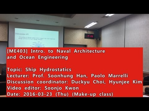 Introduction to Naval Architecture and Ocean Engineering : Ship Hydrostatics