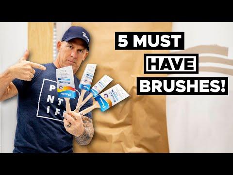 5 ESSENTIAL Paint Brushes.