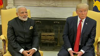 Trump hosts Indian PM Modi at the White House